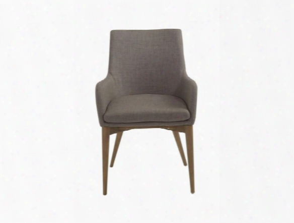 Set Of Two Calais Arm Chairs In Dark Grey Design By Euro Style