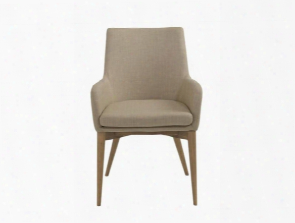 Set Of Two Calais Arm Chairs In Tan Design By Euro Style