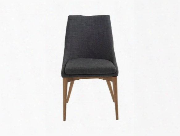 Set Of Two Calais Side Chairs In Charcoal Design By Euro Style