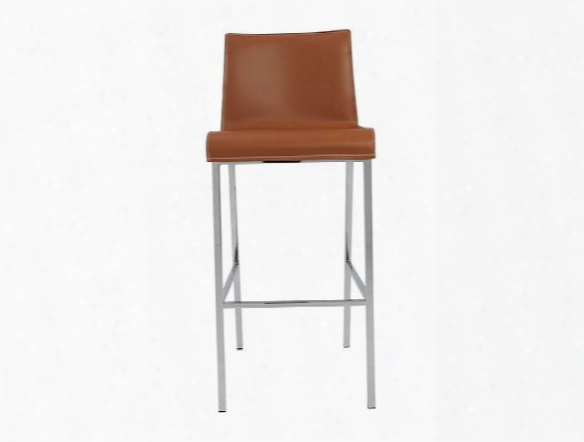 Set Of Two Cam-b Bar Stools In Cognac Design By Euro Style