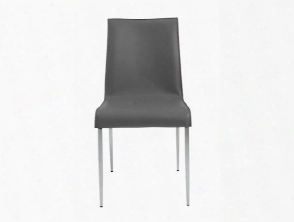 Set Of Two Cam Side Chairs In Grey Design By Euro Style