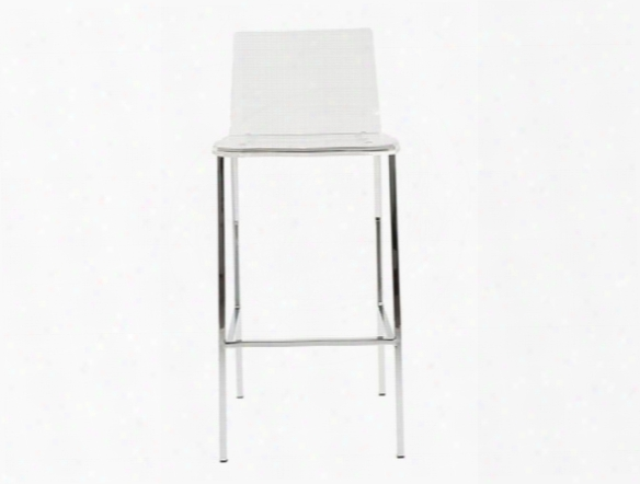 Set Of Two Chloe-b Bar Stools In Clear Design By Euro Style