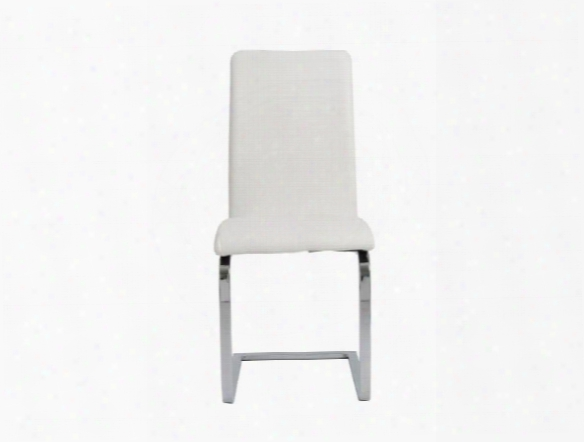 Set Of Two Cinzia Side Chairs In White Design By Euro Style