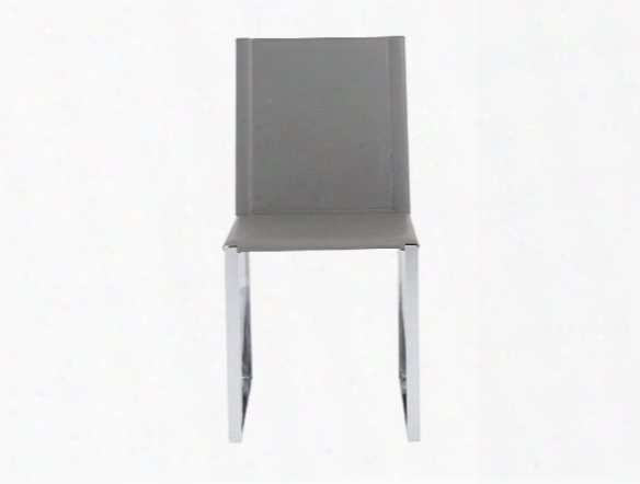 Set Of Two Cora Side Chairs In Grey Design By Euro Style