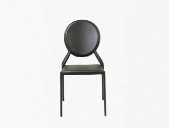 Set Of Two Isabella Side Chairs In Black Design By Euro Style