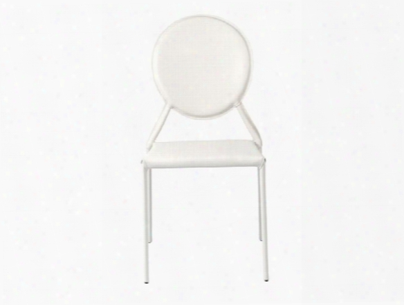 Set Of Two Isabella Side Chairs In White Design By Euro Style