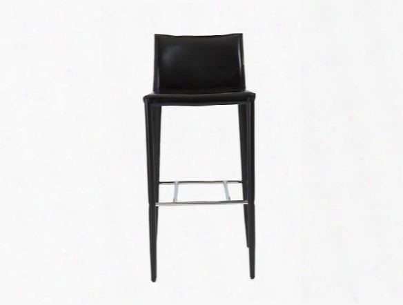 Set Of Two Shen-b Bar Stools In Black Design By Euro Style