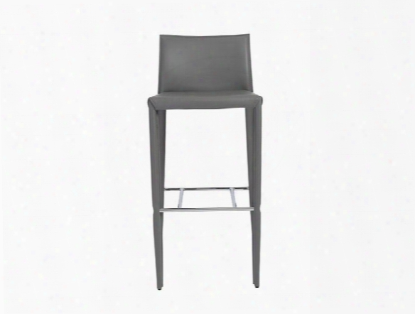 Set Of Two Shen-b Bar Stools In Grey Design By Euro Style