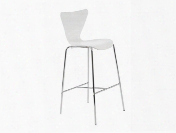 Set Of Two Tendy-b Bar Stools In White Design By Euro Style