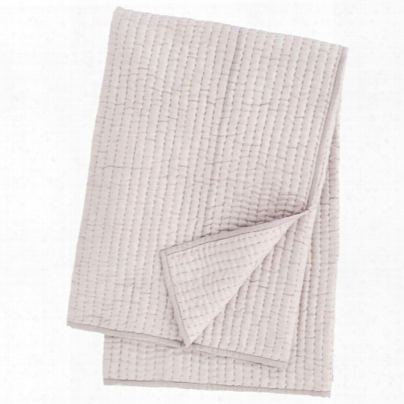 Seta Zinc Quilted Throw Design By Luxe