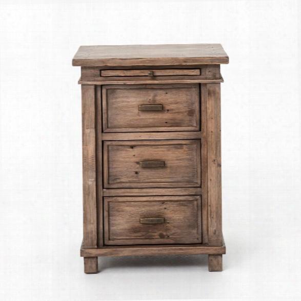 Settler Bedside Cabinet In Sundried Ash