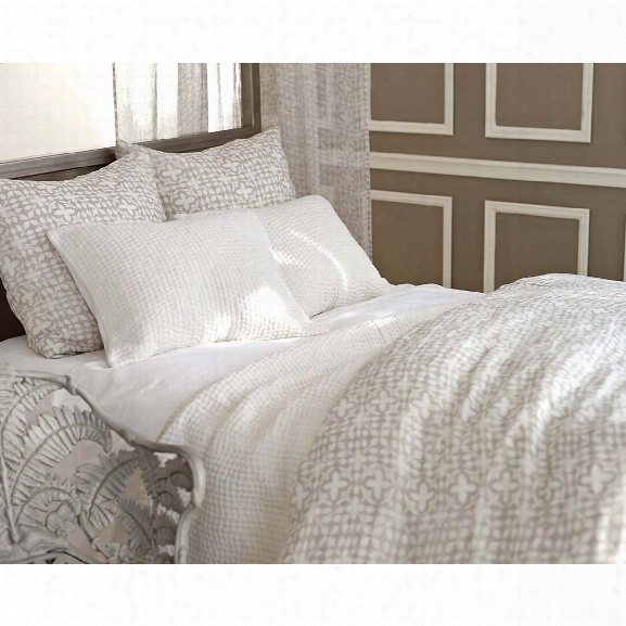 Seychelles Dove White Quilted Bedding Design By Pine Cone Hill