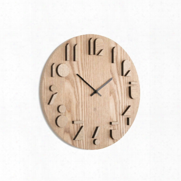 Shadow Wall Clock 16.25-inch In Natural Design By Umbra