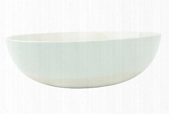 Shell Bisque Round Serving Bowl In White Design By Canvas