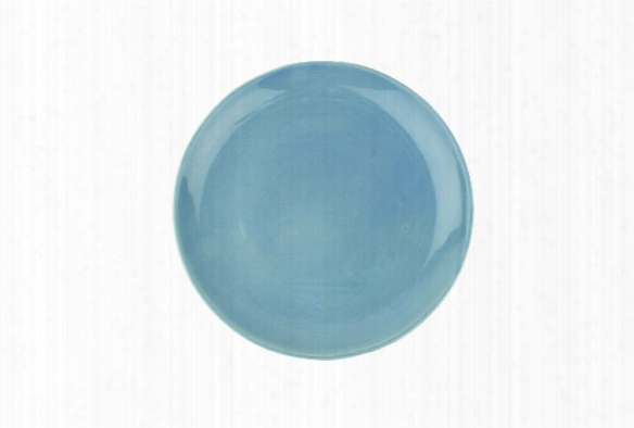 Shell Bisque Salad Plate In Blue Design By Canvas