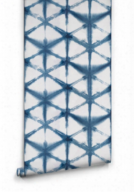 Shibori Star Wallpaper In Aleutian From The Shibori Collection By Milton & King