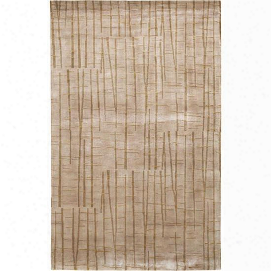 Shibui New Zealand Wool Area Rug In Golden Brown And Oatmeal Design By Julie Cohn