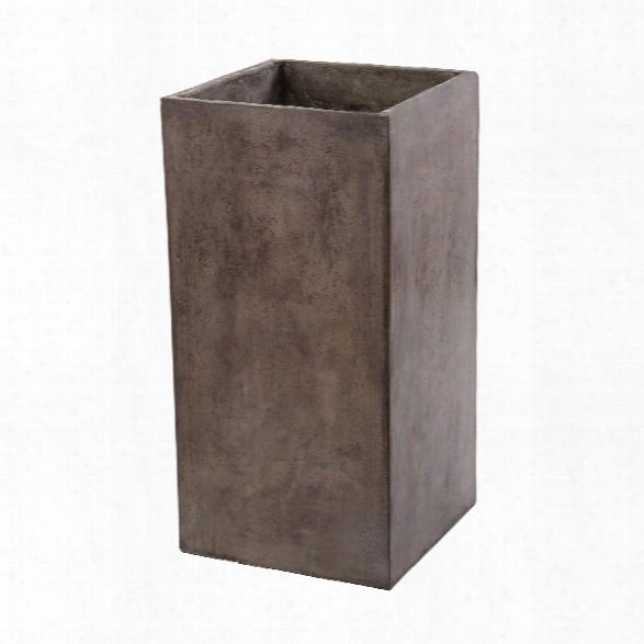 Short Al Fresco Cement Planter Design By Lazy Susan