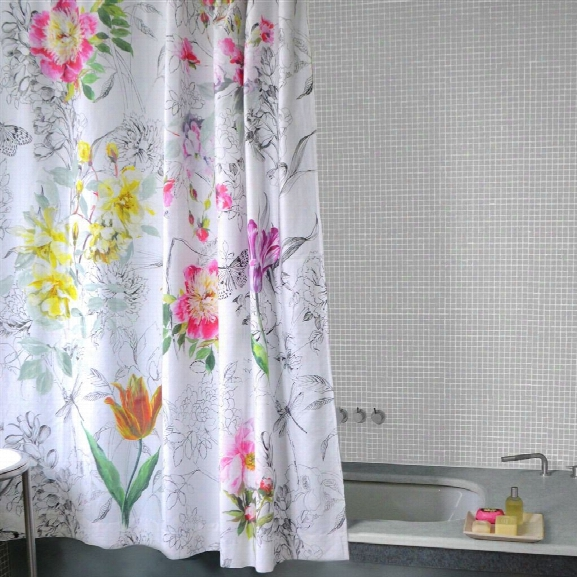 Sibylla Fuchsia Shower Curtain Design By Designers Guild