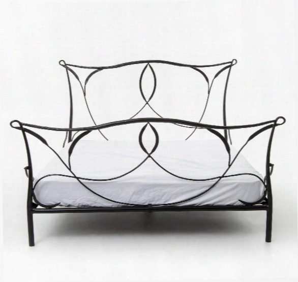 Sienna Iron Bed In Black Natural