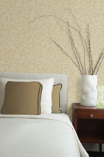 Silhouette Light Brown Vine Wallpaper From The Beoynd Basics Collection By Brewster Home Fashions