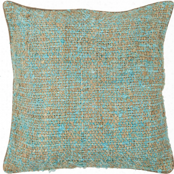 Silk Pillow In Blue & Natural Design By Chandra Rugs