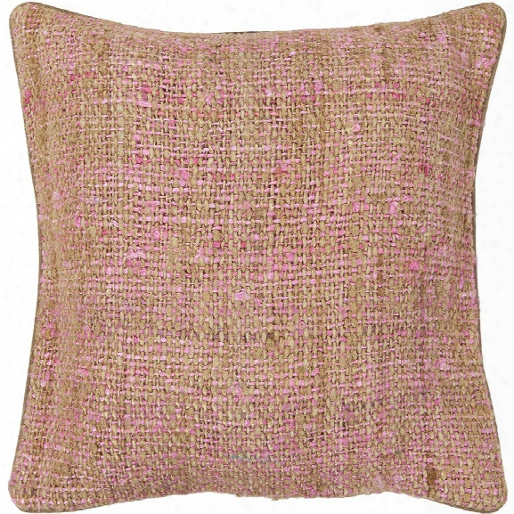Silk Pillow In Pink & Natural Design By Chandra Rugs