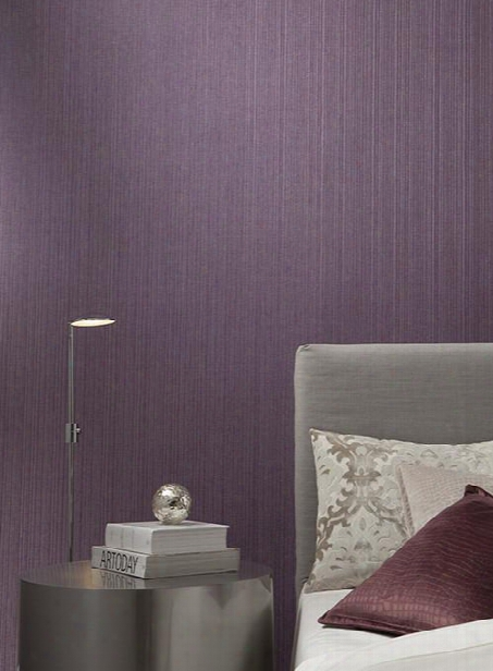 Silk Stitch Wallpaper In Plummy Purple By Ronald Redding For York Wallcoverings