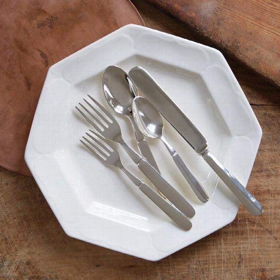 Silver-plated Florentine Flatware 5-piecee Set Deisgn By Sir/madam