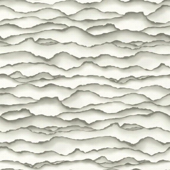 Singed Wallpaper In Grey From The Ashford Whites Collection By York Wallcoverings