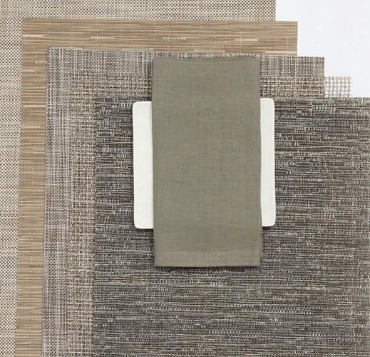 Single Sided Square Napkins In Pale Grey Design By Chilewich
