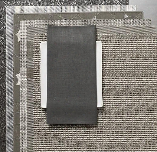 Single Sided Square Napkins In Smoke Design By Chilewich