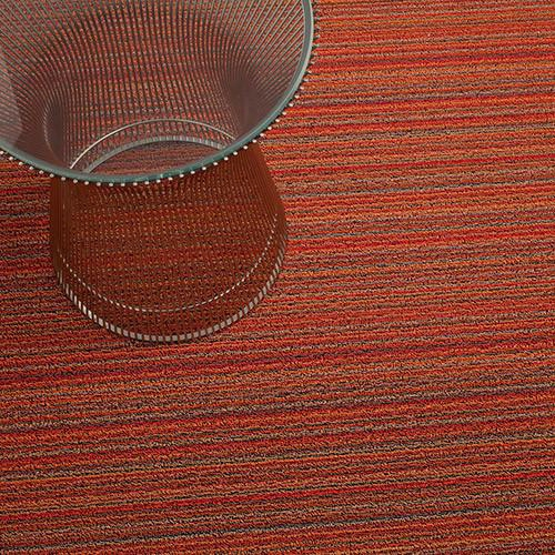Skinny Stripe Shag Orange Mat In Various Sizes Design By Chilewich