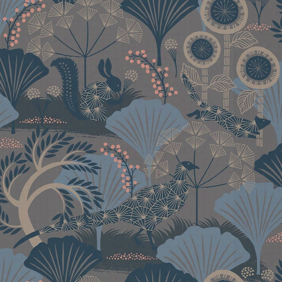 Skog Grey Forest Wallpaper From The Wonderland Collection By Brewster Home Fashions