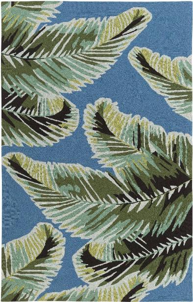 Skye Outdoor Rug In Dark Blue & Emerald Design By Surya