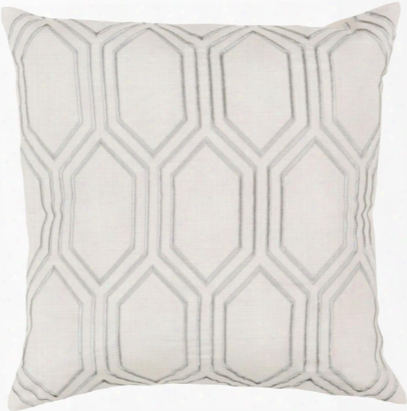 "Skyline 18"" X 18"" Linen Cushion In Beige And Medium Gray Color By Surya"