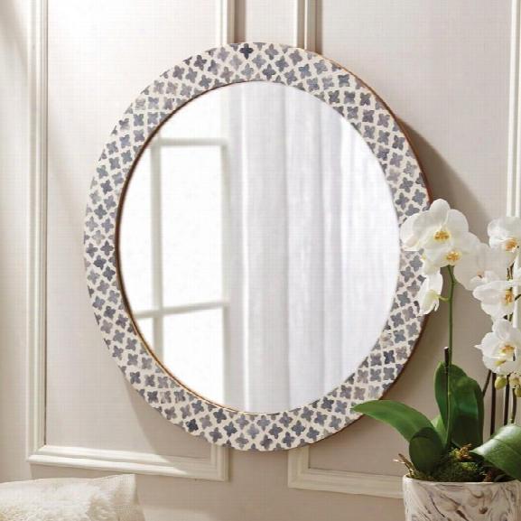 Slate Quatrefoil Wall Mirror Design By Tozai