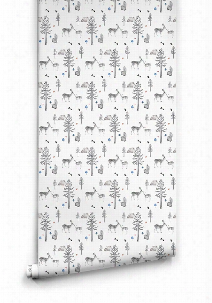Sleeping In The Woods Wallpaper From The Love Mae Collection By Milton & King