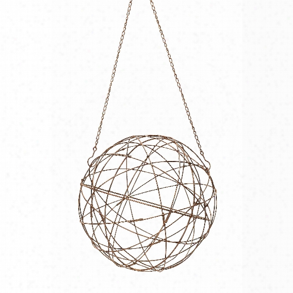Small Aged Iron Wire Sphere Design By Lazy Susan