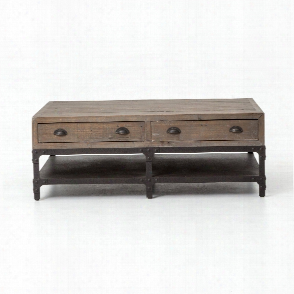 Small Campbell Coffee Table In Washed Grey