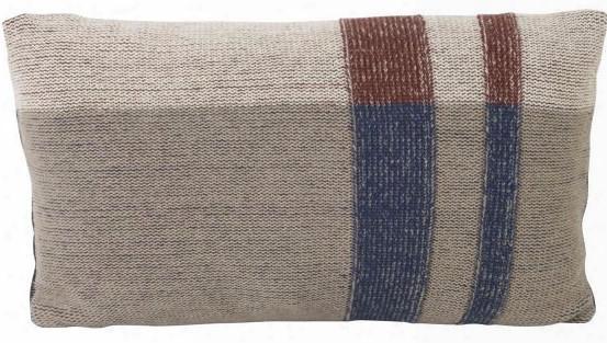 Small Medley Knit Cushion In Dark Blue Design By Ferm Living