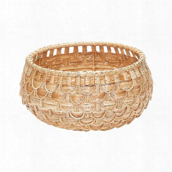 Small Natural Fish Scale Basket Design By Lazy Susan