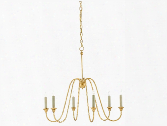Small Orion Chandelier In Antique Gold Leaf Design By Currey & Company