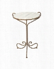 Set of Two Avista Occasional Table in Rustic Storm design by Aidan Gray