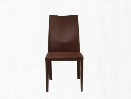 Set of Two Dafney Side Chairs in Brown Leather design by Euro Style