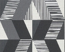 Shapes and Stripes Wallpaper in Grey and Black design by BD Wall