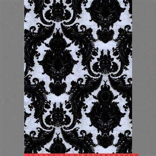 Black & Silver Ponyskin Heirloom Velvet Flocked Wallpaper Design By Burke Decor