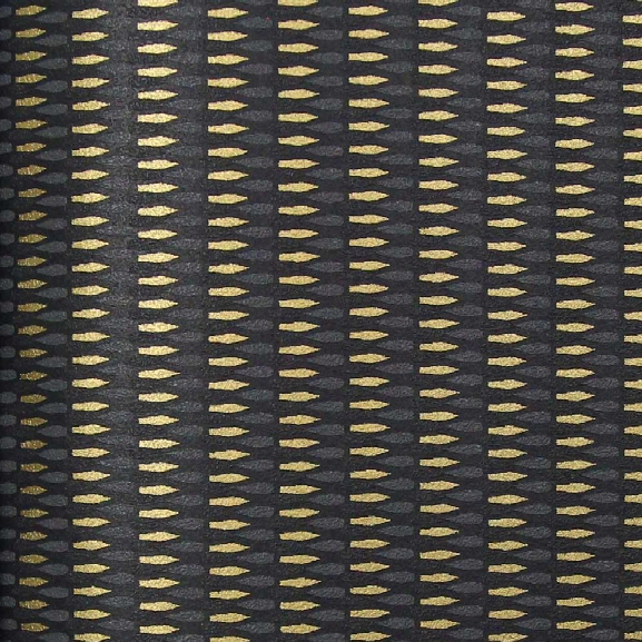 Black, Gold, And Dark Grey Geometric Kr404 Wallpaper From The Globalove Collection By Karim Rashid