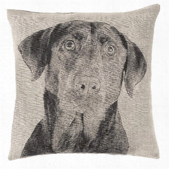 Black Lab Natural Decorative Pillow Designb Y Fresh American