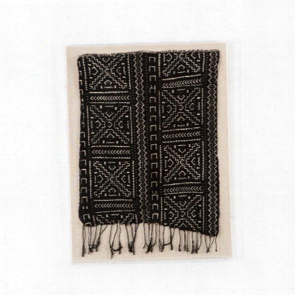 Black Mud Cloth Wall Art